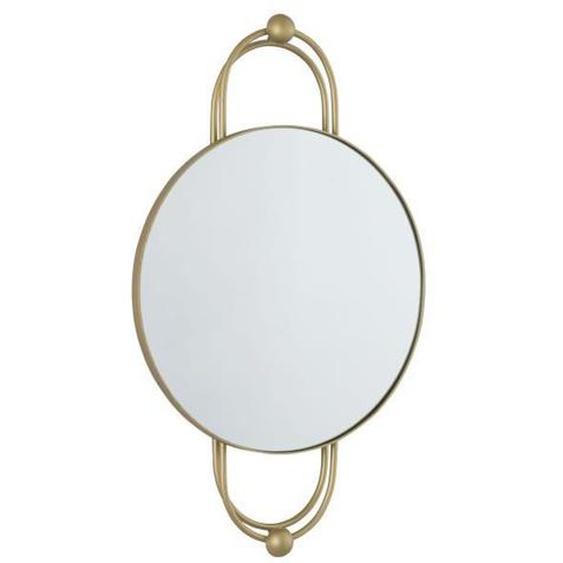 Miroir rond - 38 x 4,45 x 62,25 cm - Jaune doré