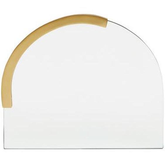 Miroir Sabine demi ovale laiton 30 x 25 cm