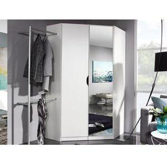 Mobistoxx Armoire d'angle FREEDOM 2 portes blanc avec miroir