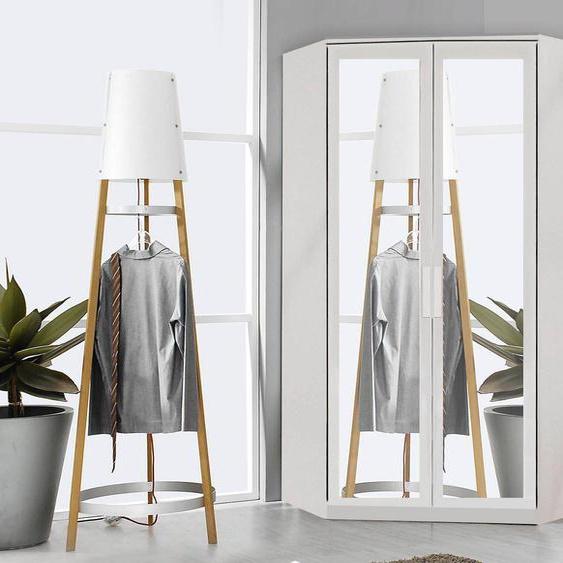 Mobistoxx Armoire d'angle RIGA 2 portes blanc