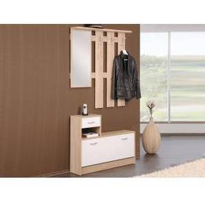 Mobistoxx Vestiaire RUDY 1 porte 1 tiroir blanc/sonoma