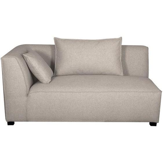 Module dangle gauche pour canapé en tissu beige PLURIEL