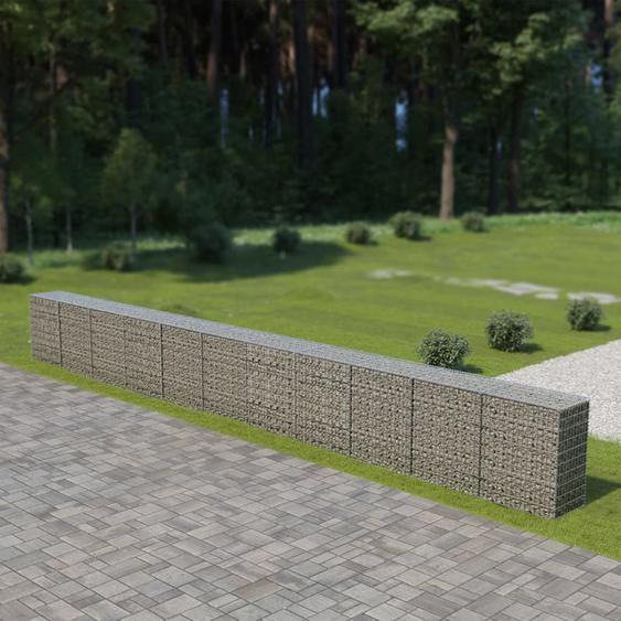 Asupermall - Mur a gabion avec couvercles Acier galvanise 900 x 50 x 100 cm