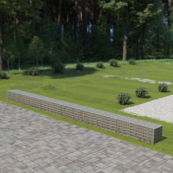 Mur a gabion avec couvercles Acier galvanise 900 x 50 x 50 cm - ASUPERMALL