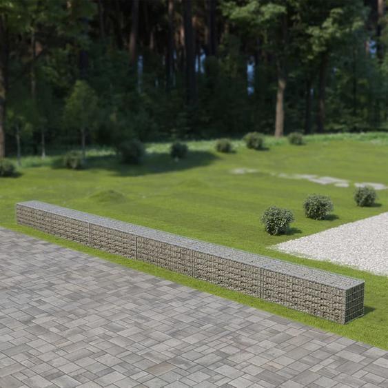 Zqyrlar - Mur à gabion avec couvercles Acier galvanisé 900 x 50 x 50 cm