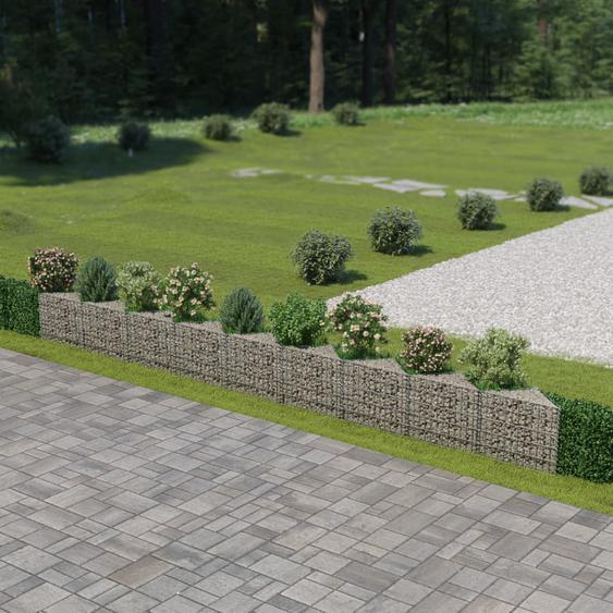 Mur de gabion Acier galvanisé 630 x 30 x 50 cm