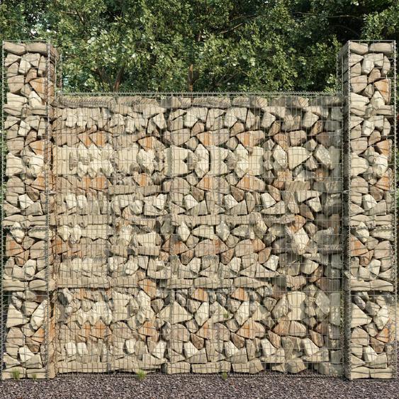 Mur en gabion avec couvercle Acier galvanisé 600 x 50 x 200 cm