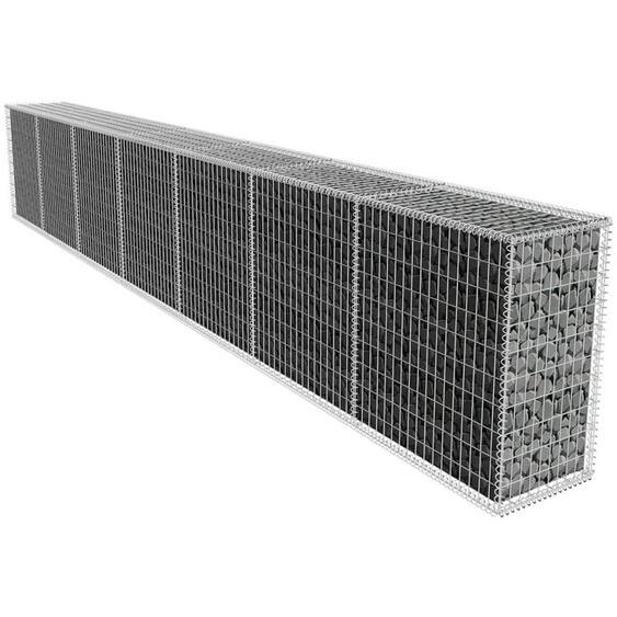 Mur en gabion avec couvercle Acier galvanisé 600x50x100 cm - ZQYRLAR