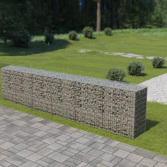 Mur en gabion avec couvercles Acier galvanisé 300 x 50 x 100 cm