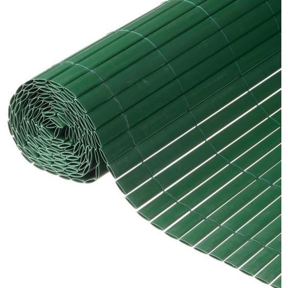 NATURE Canisse double face PVC - 1500 g/m² - Set de fixation - Vert - 1 x 3 m