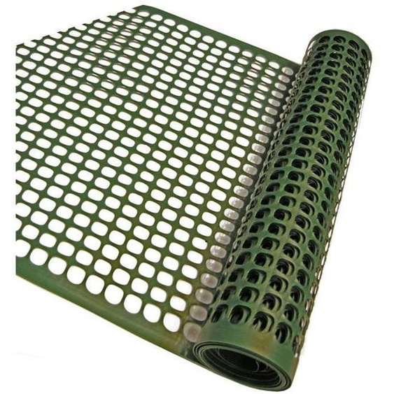 NATURE Grillage pour parterre - HDPE vert - Maille rectangle 20x30 mm - 0,5x3 m