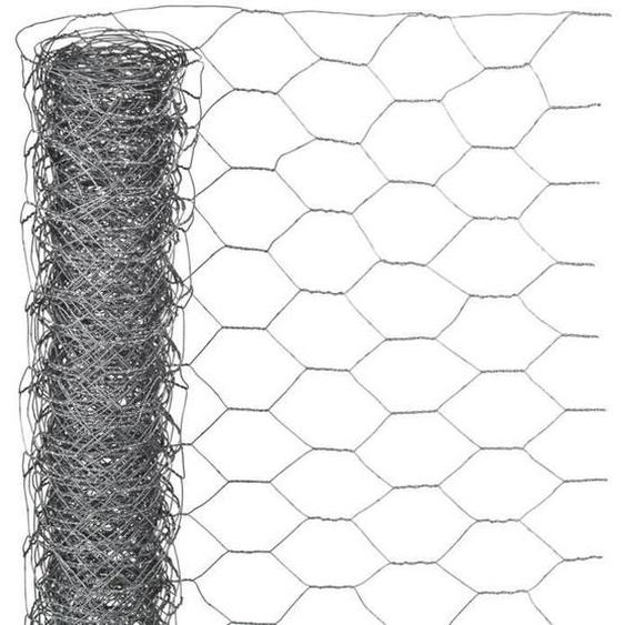 NATURE Maille hexagonale en acier galvanisé - Ø 40 mm - 1x10 m