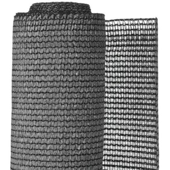 NATURE Natte brise-vue avec set de fixation - En HDPE - Gris anthracite - Occultation 95%, 190 g/m² - 1,2 x 5 m