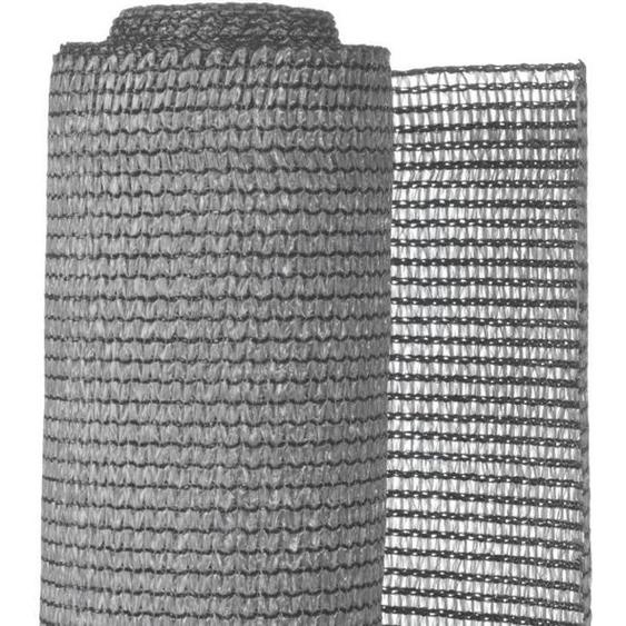 NATURE Natte brise-vue avec set de fixation - En HDPE - Gris clair - Occultation 95%, 190 g/m² - 1 x 3 m