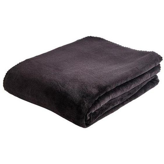NECESA Plaid noir Larg. 180 x Long. 220 cm