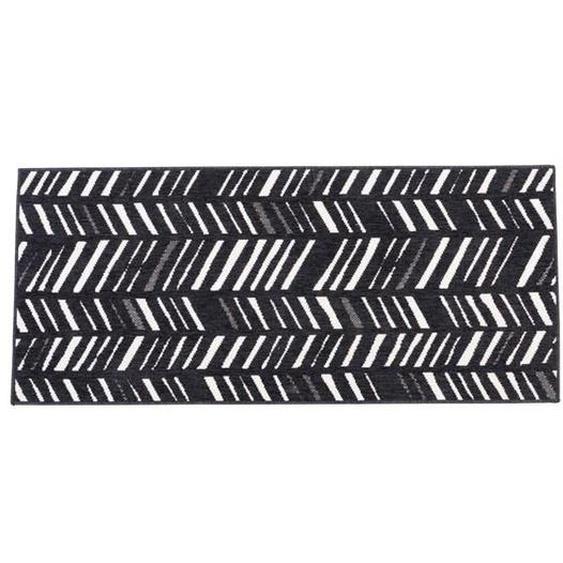 NERO Tapis de cuisine noir Larg. 67 x Long. 150 cm