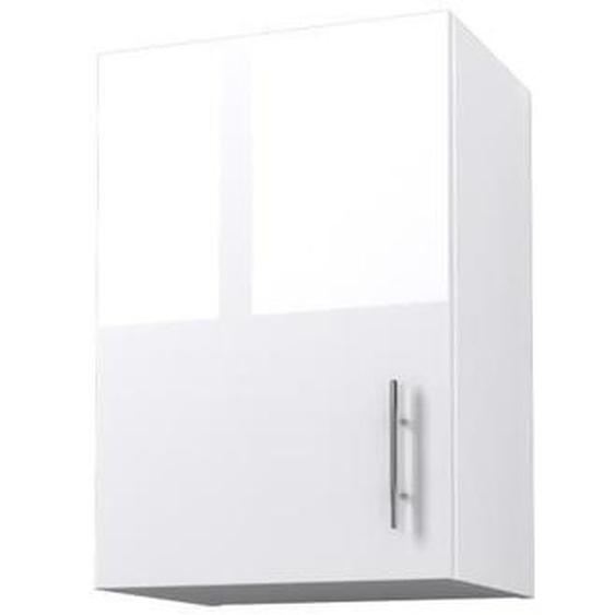 OBI Caisson haut de cuisine avec 1 porte L 40 cm - Blanc et blanc laqué brillant