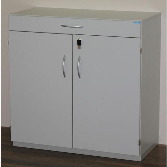 OFFICE AKKTIV Armoire de ménage avec plateau de tri - h x l x p 942 x 913 x 440 mm, verrouillable - gris clair RAL 7035 - Coloris: Gris clair RAL 7035 - CERTEO