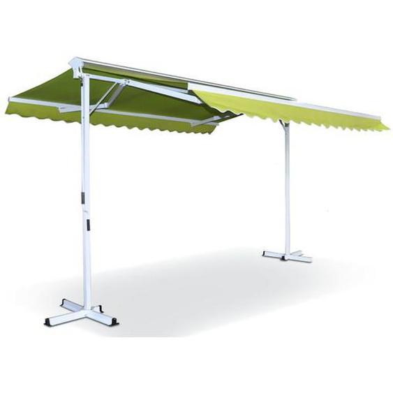 Store double pente avec coffre 3 x 4 m Delgada - Vert - OVIALA