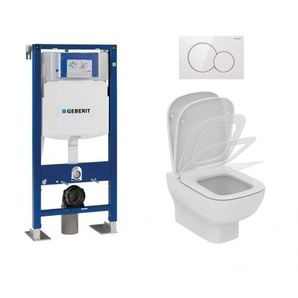 Pack WC GEBERIT UP320 + Cuvette KHEOPS Aquablade + Plaque Blanche