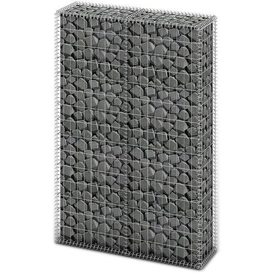 Panier de gabion avec couvercle Fil galvanisé 150 x 100 x 30 cm