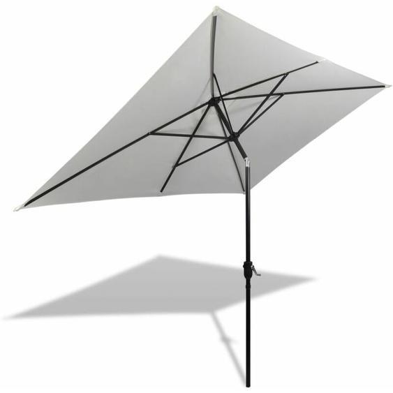 Parasol 200 x 300 cm Blanc sable Rectangulaire
