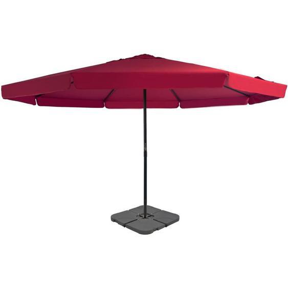 Parasol avec base portable Rouge