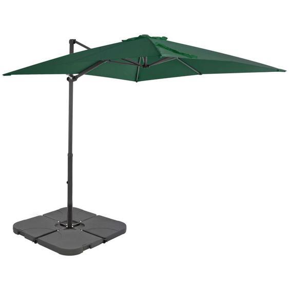 Parasol avec base portable Vert
