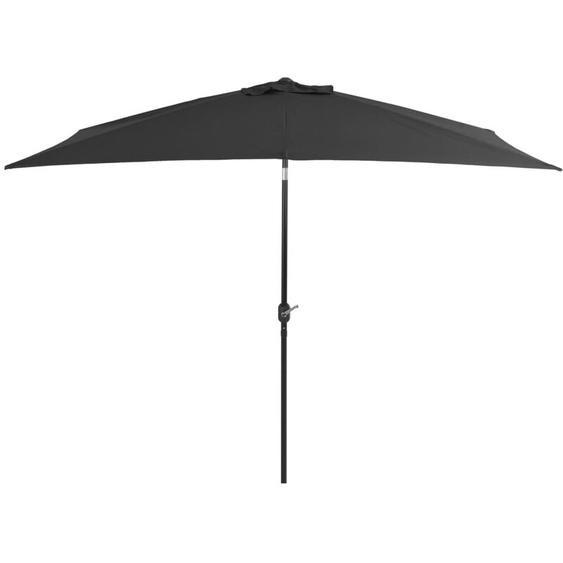 Youthup - Parasol avec mât en métal 300 x 200 cm Anthracite