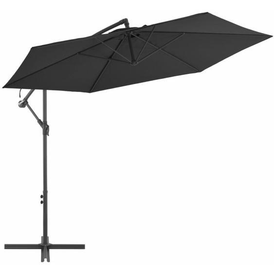 Youthup - Parasol déporté avec mât en aluminium 300 cm Noir