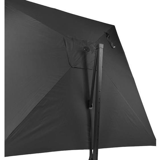 Parasol déporté BRELLA gris foncé en aluminium - 300x300 cm