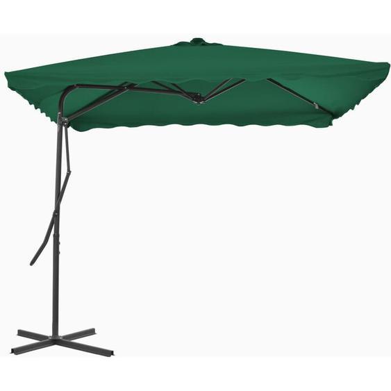Youthup - Parasol dextérieur avec mât en acier 250 x 250 cm Vert