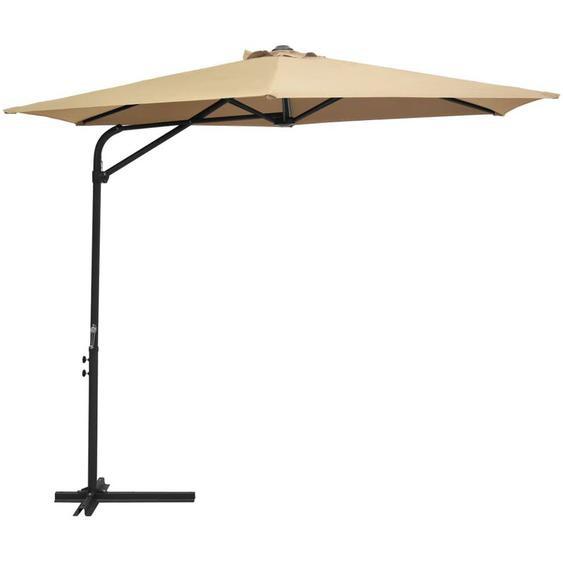Parasol dextérieur avec mât en acier 300 cm Taupe