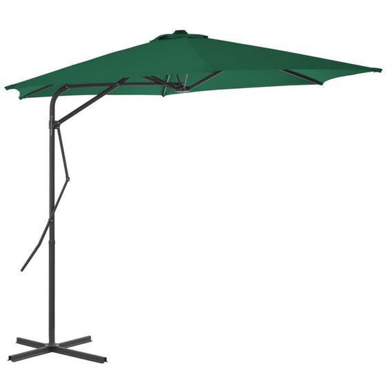 Youthup - Parasol dextérieur avec mât en acier 300 cm Vert