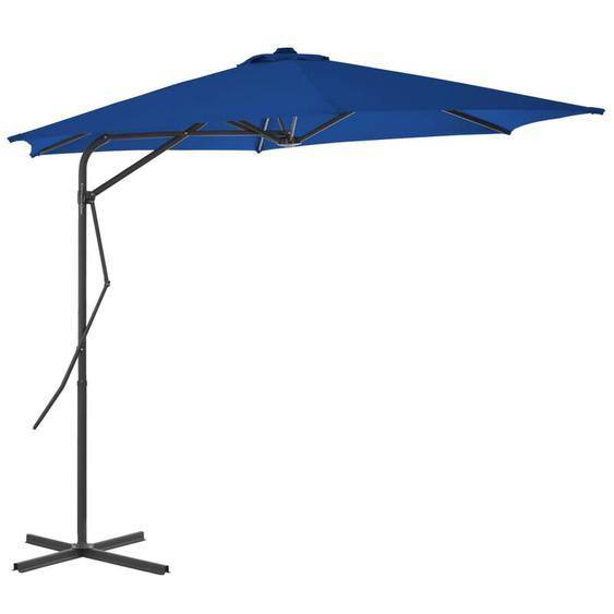 Parasol dextérieur avec mât en acier Bleu 300x230 cm