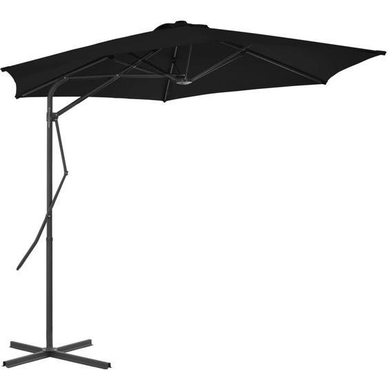 Youthup - Parasol dextérieur avec mât en acier Noir 300x230 cm