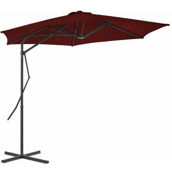 Youthup - Parasol dextérieur avec mât en acier Rouge bordeaux 300x230 cm