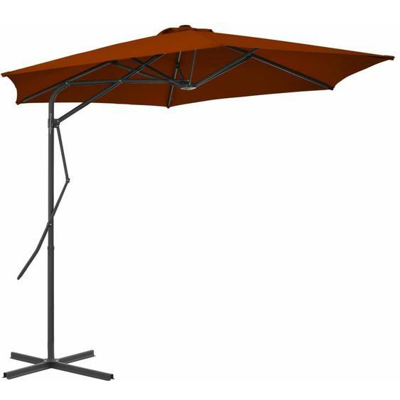 Youthup - Parasol dextérieur avec mât en acier Terre cuite 300x230 cm