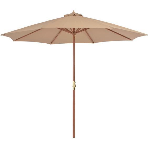 Youthup - Parasol dextérieur avec mat en bois 300 cm Taupe