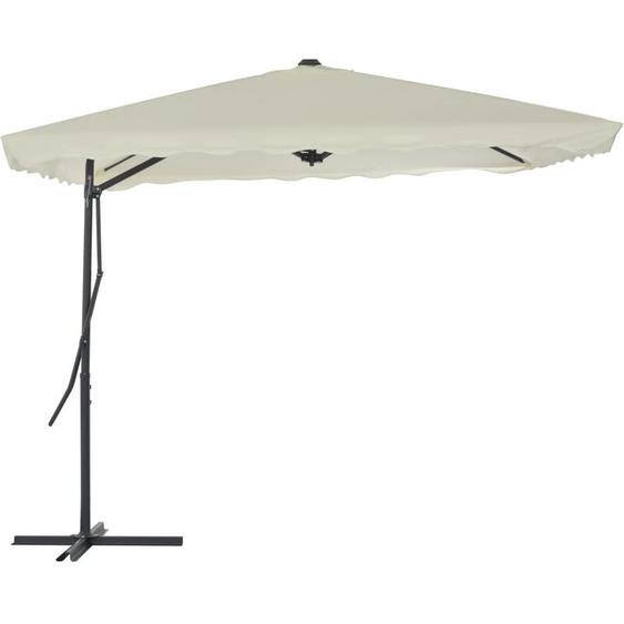 Youthup - Parasol dextérieur avec poteau en acier 250 x 250 cm Sable