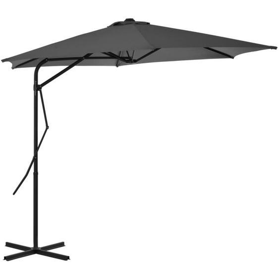 Youthup - Parasol dextérieur avec poteau en acier 300 cm Anthracite