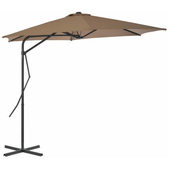 Youthup - Parasol dextérieur avec poteau en acier 300 cm Taupe