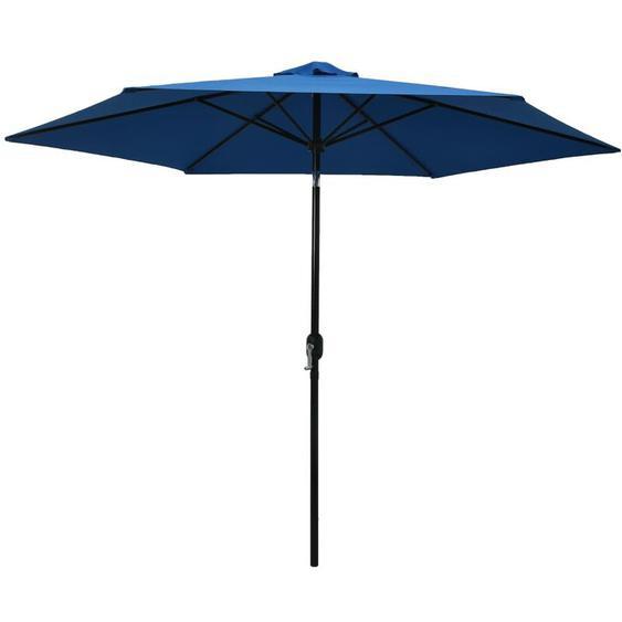 Youthup - Parasol dextérieur avec poteau en métal 300 cm Azuré