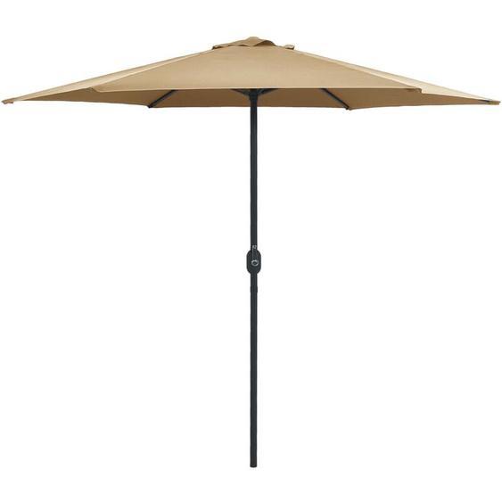 Parasol dextérieur et mât en aluminium 270x246 cm Taupe