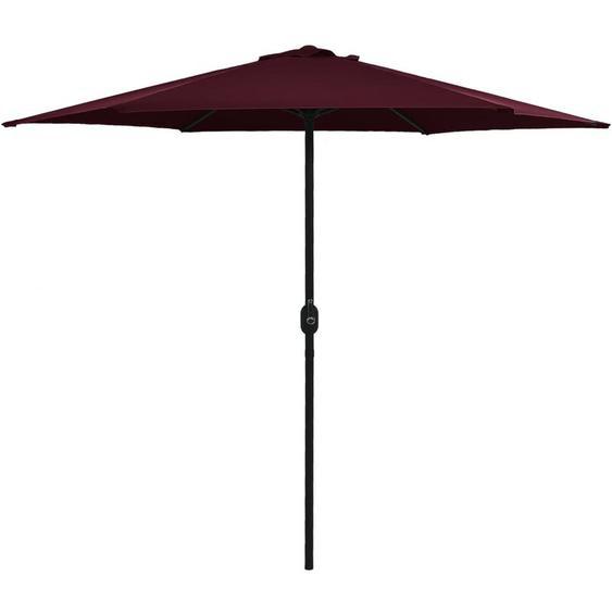 Youthup - Parasol dextérieur et mât en aluminium parasol de plage 270x246 cm Bordeaux