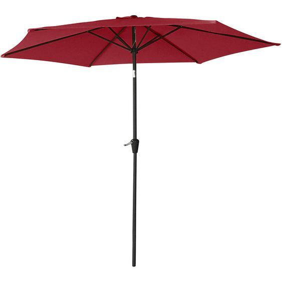 Happy Garden - Parasol droit HAPUNA rond 2,70m de diamètre rouge