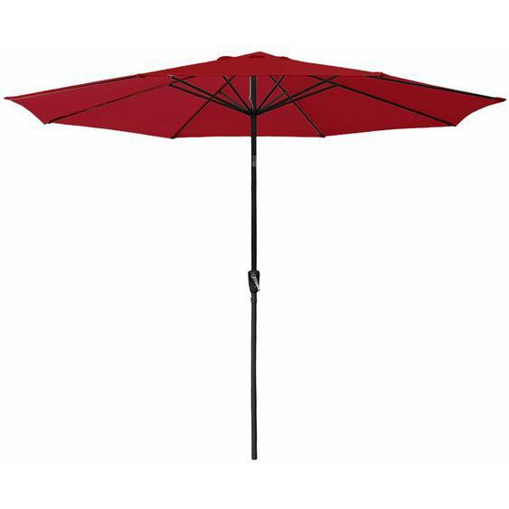Parasol droit HAPUNA rond 3,30m de diamètre rouge - Rouge