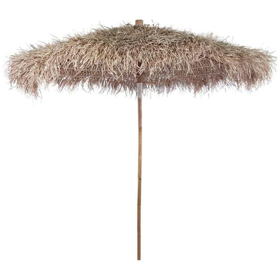 Parasol en bambou avec toit en feuille de bananier 270 cm