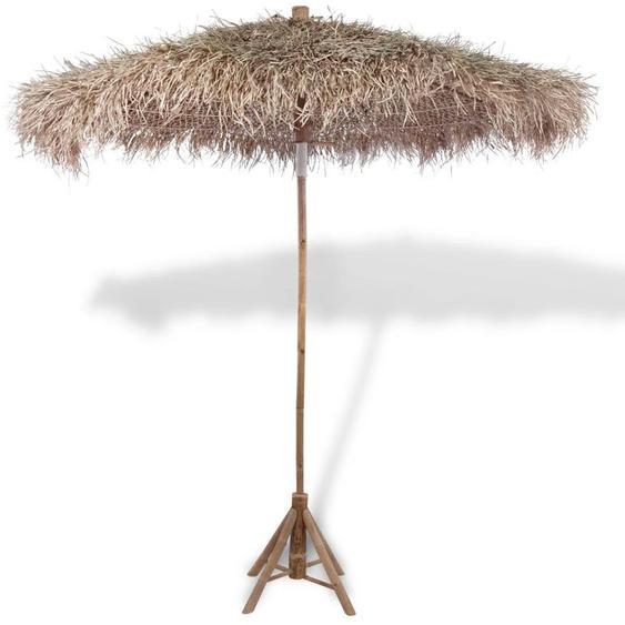 Youthup - Parasol en bambou avec toit en feuille de bananier 270 cm