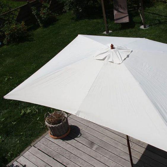 Parasol En Bois, Parasol De Jardin Florida, Parasol De Marché, Rectangulaire 2x3m   Crème